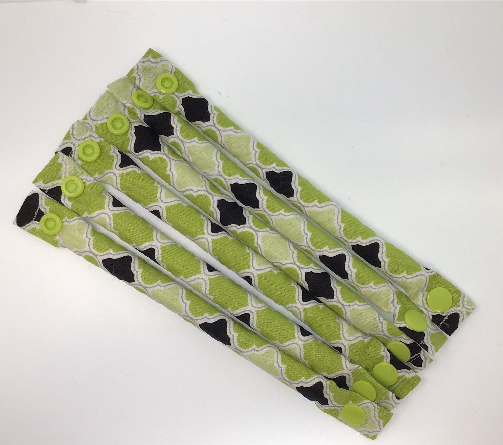 Lime and Black Soft Hair Rollers