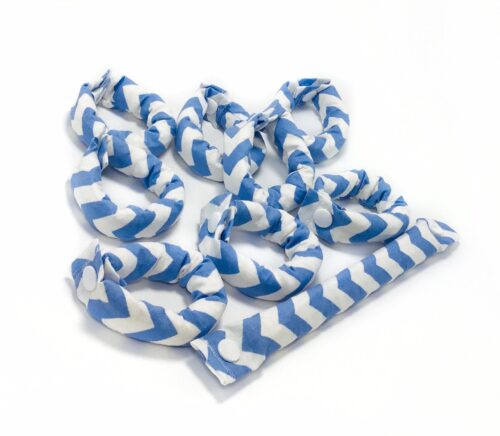 Sky Blue Chevron Hair Rollers