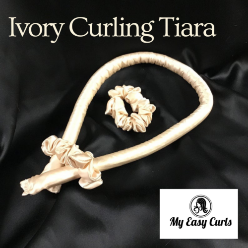 Curling Tiara Satin Ivory